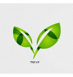 Modern paper design eco leaves concept vector