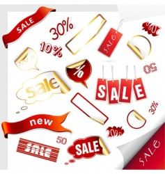 Sale icons labels stickers vector