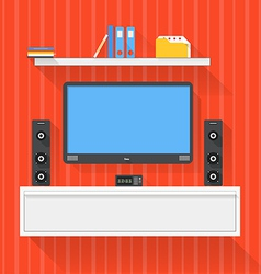 Modern home media entertainment system vector