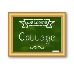 School blackboard with text on white background vector