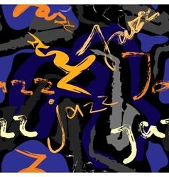 Music jazz pattern vector