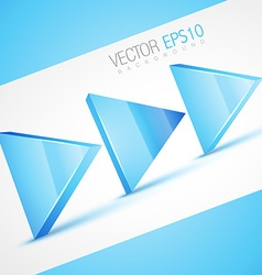 Stylish 3d arrow vector