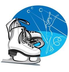 Figure skates vector