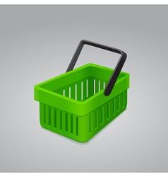 Green shopping basket vector
