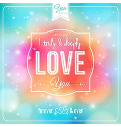 Romantic card on a soft fantasy background vector
