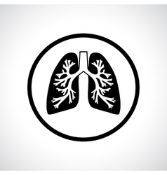 Lungs icon vector