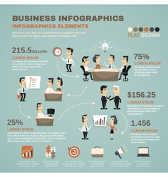 Office work infographics presentation poster vector