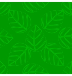 A seamless green leafs tile vector