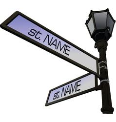 Street name post vector