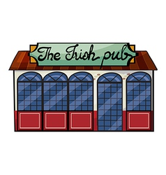 An irish pub vector