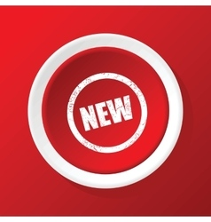 New icon on red vector