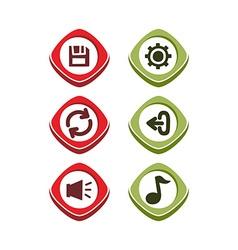Icon button set vector