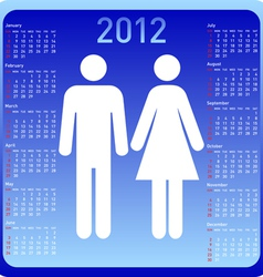 Woman and man in calendar vector