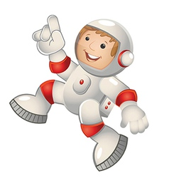 Child astronaut jumping vector