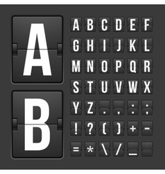 Scoreboard letters and symbols alphabet panel vector