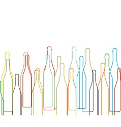 Background with bottles set vector