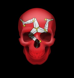 Isle of man flag skull vector