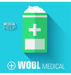 Flat medical wool background concept vector
