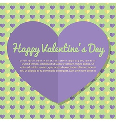 Template valentines day greeting card design vector