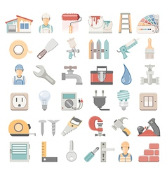 Flat icons home repair vector
