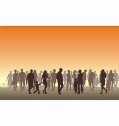 People in the horizon vector