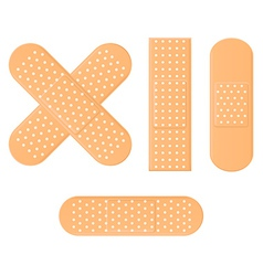 Medical bandage in different shape vector