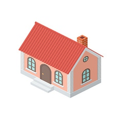 Cottage with a tiled roof vector