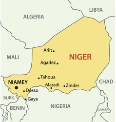 Republic of niger - map vector
