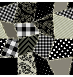 Patchwork pattern vector