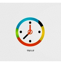 Modern paper design time concept vector