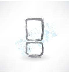 Refrigerator grunge icon vector