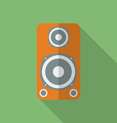 Speaker icon modern flat style with a long shadow vector