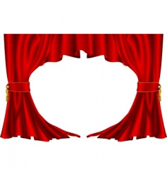 Ter style curtains vector
