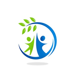 Nature ecology people friendly logo vector