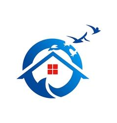 Home beach village realty logo vector