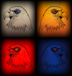 Eagles sketch vector