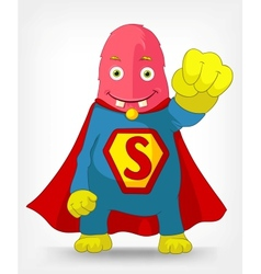 Funny monster super hero vector