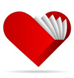 Book shape heart icon vector