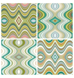 Set of seamless abstract wavy backgrounds vector