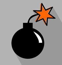Bomb flat icon vector