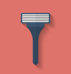 Shaving razor icon flat style vector