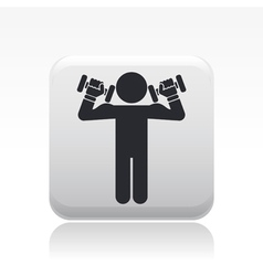 Gym icon vector