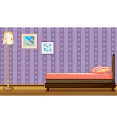 Bed lamp shade and paintings vector