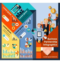 Business partnership infographics vector