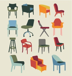 Chair set of chairs interior furniture vector