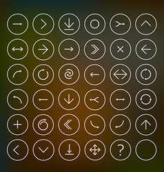 Set of round arrow icons vector