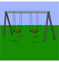 Abandoned swing set vector