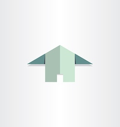 Paper house flat home icon vector