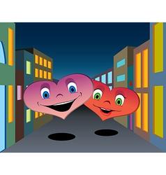 Happy hearts vector