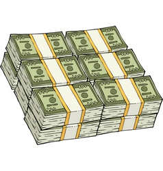 Pile of cash vector